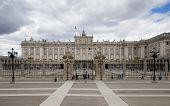 MADRID, SPAIN - MAY 28, 2014: The Royal Palace of Madrid is the official residence of the Spanish Ro