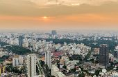 A golden blue hour of Ho Chi Minh city