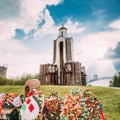 Afghanistan War Memorial On Island Of Tears (ostrov Slyoz) In Minsk, Belarus