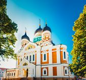 Alexander Nevsky Cathedral, An Orthodox Cathedral Church In The Tallinn Old Town, Estonia.