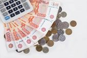 Russian Money And Calculator