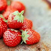 stock photo of birching  - Strawberries - JPG