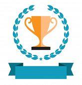 trophy award cup icon design