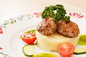 Meat cutlet with mashed potatoes