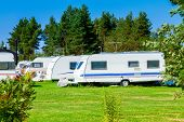 picture of trailer park  - Modern luxury mobile homes in a caravan park - JPG