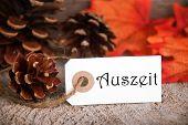 Autumn Label With Auszeit