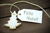 Christmas Label With Feliz Natal