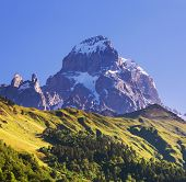 Ushba peak, Caucasus Mountains. Svaneti