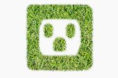 Green Turf Logo Power Outlet