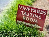 Vineyard tasting sign