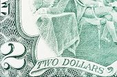 A Close Of A Two Dollars Bill