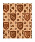 Background coats of arms on large beige