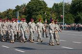 American Forces During The Parade in Warsaw City