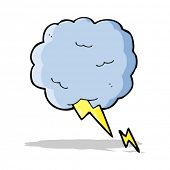 cartoon thundercloud symbol