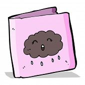 cartoon cloud card
