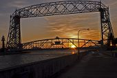 Duluth lift-bridge at sunset