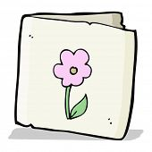 cartoon flower greeting card