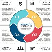 Vector circle arrows for business infographic.