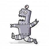 cartoon terrified robot