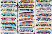 Colorful Arm Bracelets With Embroidered Names