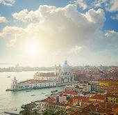 Grand Canal and Basilica Santa Maria della Salute. Venice, Italy