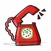 cartoon ringing telephone