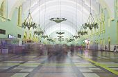 Interior of Moscow railway station.