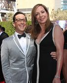 LOS ANGELES - AUG 16:  Dan Bucatinsky, Allison Janney at the 2014 Creative Emmy Awards - Arrivals at Nokia Theater on August 16, 2014 in Los Angeles, CA