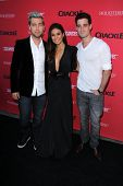 LOS ANGELES - AUG 14:  Lance Bass, Emmanuelle Chriqui at the Crackle Presents the Premieres of