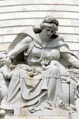 KOLKATA,INDIA - NOVEMBER 27: Motherhood, the statue on the dome of Victoria Memorial in Kolkata, Wes