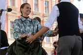 ZAGREB, CROATIA - JULY 19: Members of folk groups Nograd  from Salgotarjan, Hungary during the 48th
