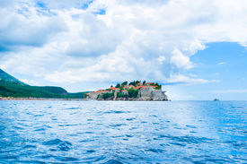 pic of former yugoslavia  - Formerly an island Sveti Stefan is now connected to the mainland by a narrow isthmus Montenegro - JPG