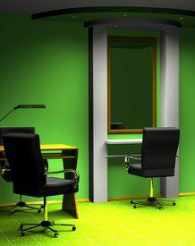 stock photo of beauty salon interior  - 3D a beauty salon interior - JPG