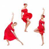 Set of photos modern style dancer