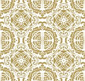 Wallpaper in the style of Baroquen. Golden Abstract Vector Background