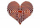 Vector Heart Looks Like Maze
