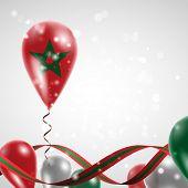Flag of Morocco on balloon