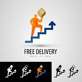 delivery vector logo design template. courier or package icon.