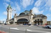 LIMOGES, FRANCE - SEPTEMBER 10, 2013: Limoges-Benedictins Train Station in early autumn. Built in 1929, it's considered as one of the most beautiful train station in the world