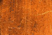 Plaster Or Cement Texture Orange Color