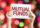 Mutual Funds card with colorful background with defocused lights
