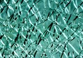 The texture of the broken glass.