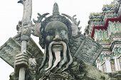 Statue At Wat Pho In Bangkok