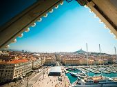 The old sea-port of Marseille. France. (view from the ferris wheel)