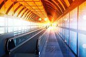 Interior of Madrid airport, departure waiting aria