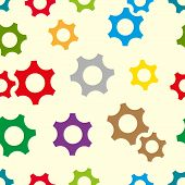 Color gear wheels seamless texture