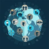 Social Networking Business People, Workforce, Team Working, Business People In Motion