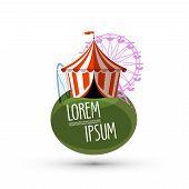 circus vector logo design template. fun or fair icon.