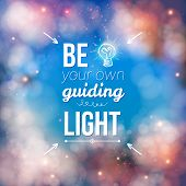 Be Your Own Guiding Light Concept