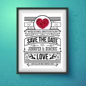 Wedding Invitation Concept Design on Frame